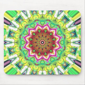 Lime Green Citrus Abstract Mouse Pad