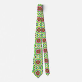 Lime Green Citrus Abstract Tie