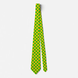 Lime Green Clover Ribbon Tie