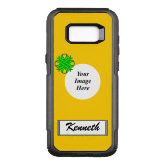 Lime Green Clover Ribbon Tmpl by Kenneth Yoncich OtterBox Commuter Samsung Galaxy S8+ Case