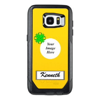 Lime Green Clover Ribbon Tmpl by Kenneth Yoncich OtterBox Samsung Galaxy S7 Edge Case