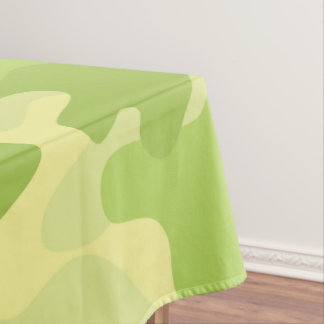 Lime Green Color Camouflage Pattern Tablecloth