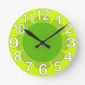 Lime Green country kitchen Clocks