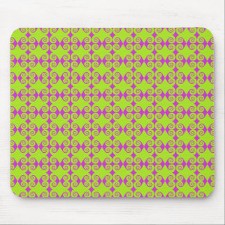 Lime Green Curl Pattern Mouse Pad