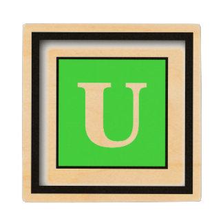 Lime Green Cute Monochrome Wood Coaster