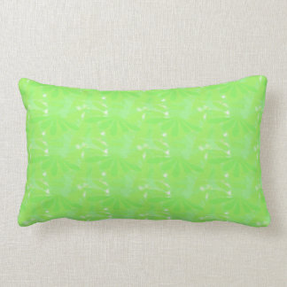 Lime Green Daisies Texture Lumbar Pillow
