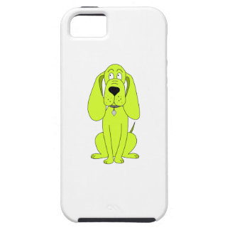 Lime Green Dog. Cute Hound Cartoon. iPhone 5 Covers
