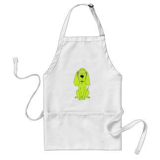 Lime Green Dog. Cute Hound Cartoon. Standard Apron