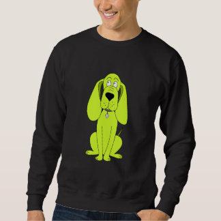 Lime Green Dog. Cute Hound Cartoon. Sweatshirt