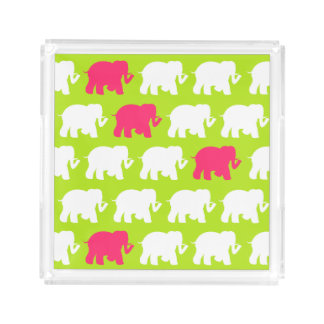 Lime green elephants tray