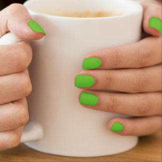 Lime green fingernails minx nail art
