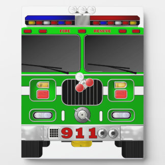 Lime Green Fire Truck Plaques