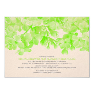 Lime Green Floral Bridal Shower Invitations