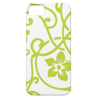 Lime Green Floral Scroll Design iPhone 5 Case