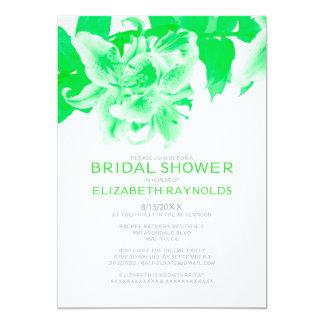 Lime Green Flower Bridal Shower Invitations