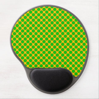 Lime Green Flower Ribbon Gel Mouse Pad