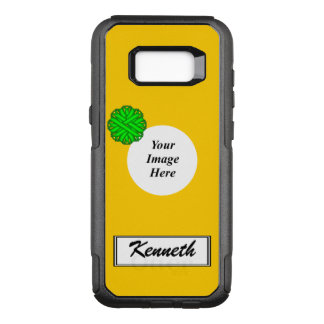 Lime Green Flower Ribbon Tmpl by Kenneth Yoncich OtterBox Commuter Samsung Galaxy S8+ Case