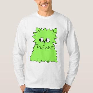 Lime Green Fluffy Cat. T-Shirt