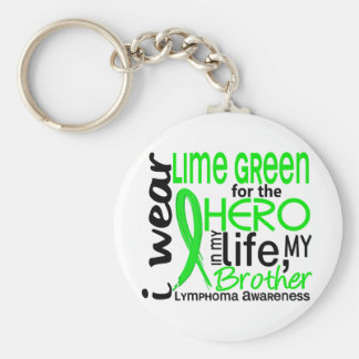 Lime Green For Hero 2 Brother Lymphoma Basic Round Button Key Ring