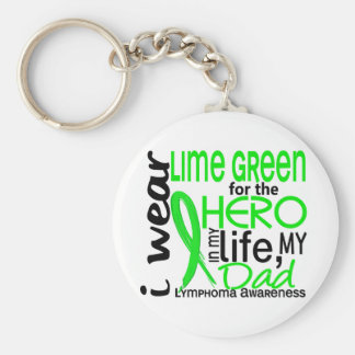 Lime Green For Hero 2 Dad Lymphoma Basic Round Button Key Ring