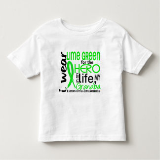 Lime Green For Hero 2 Grandpa Lymphoma Toddler T-Shirt