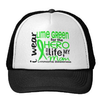 Lime Green For Hero 2 Mom Lymphoma Trucker Hat