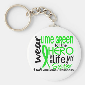 Lime Green For Hero 2 Sister Lymphoma Basic Round Button Key Ring