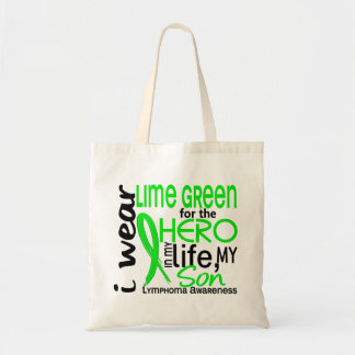 Lime Green For Hero 2 Son Lymphoma Budget Tote Bag