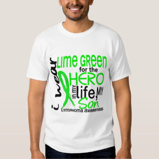 Lime Green For Hero 2 Son Lymphoma Tee Shirts