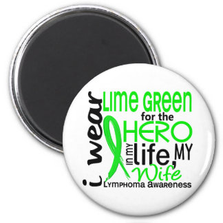 Lime Green For Hero 2 Wife Lymphoma 6 Cm Round Magnet