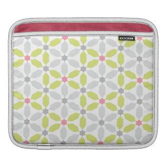Lime Green Geometric Pattern iPad Sleeve