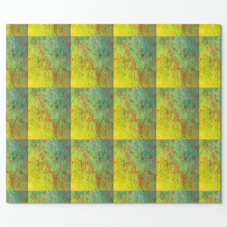 Lime Green gift wrapping paper, grid, 3d pattern Wrapping Paper