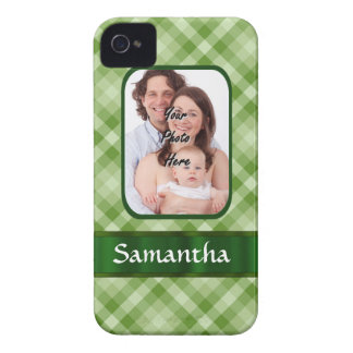 Lime green gingham iPhone 4 Case-Mate case