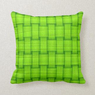Lime Green graphic design Cushion