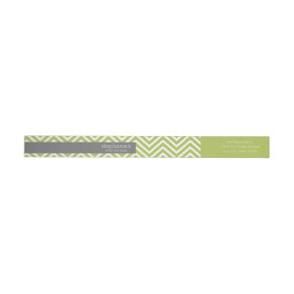 Lime Green & Gray Gender Neutral Baby Shower Suite Wrap Around Label