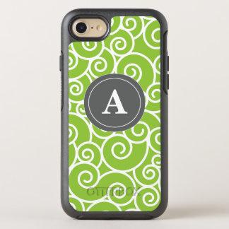 Lime Green Gray Swirls OtterBox Symmetry iPhone 8/7 Case