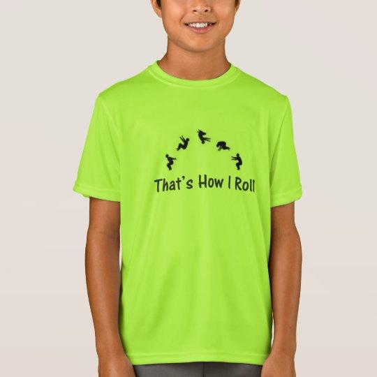 Lime Green Gymnatics Parkour Tumbling T-shirt