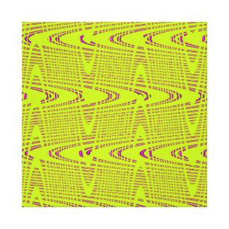 Lime Green Hot Pink Modern Geometric Wave Pattern Canvas Prints