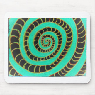 Lime Green Inverted Spiral Mouse Pad