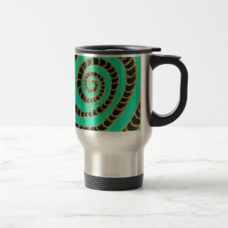 Lime Green Inverted Spiral Stainless Steel Travel Mug