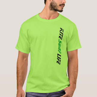Lime Green Kite Surf Life Gone Knots Kiteboarding T-Shirt