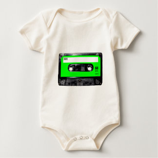 Lime Green Label Cassette Baby Bodysuit