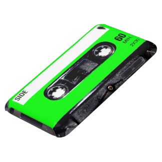 Lime Green Label Cassette iPod Touch Cases