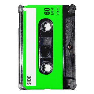 Lime Green Label Cassette Cover For The iPad Mini