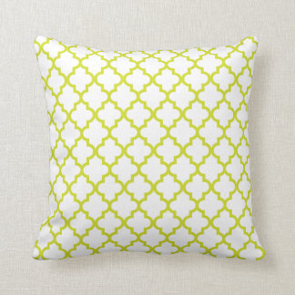 Lime Green Lattice Pattern Pillow