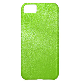 Lime Green Leather Look (Faux) iPhone 5C Case