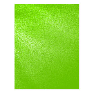 Lime Green Leather Look (Faux) Postcard