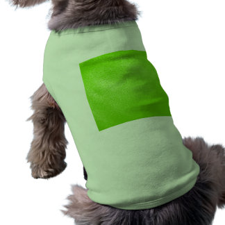 Lime Green Leather Look (Faux) Sleeveless Dog Shirt