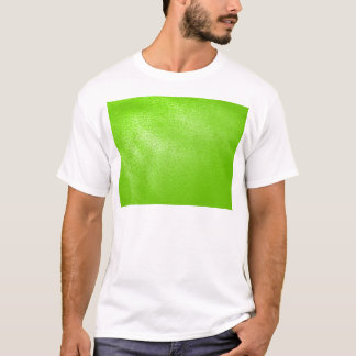Lime Green Leather Look (Faux) T-Shirt