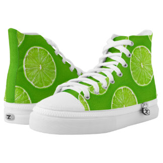Lime Green Lemon Printed Shoes
